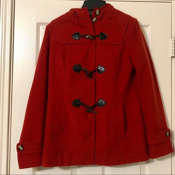 Forever 21 Jackets & Blazers - Gorgeous Red-orange pea coat 😍